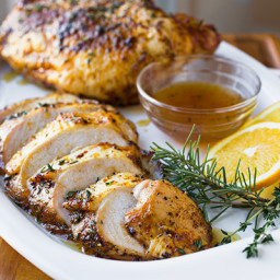 Orange-Honey Glazed Roasted Turkey Breasts