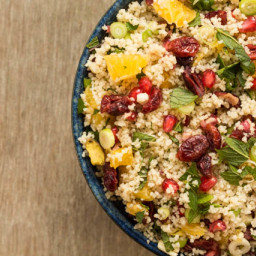 Orange Pistachio Pomegranate Couscous Salad