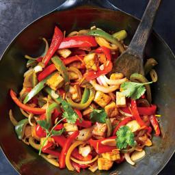 Orange, Tofu, and Bell Pepper Stir-Fry