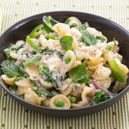 Orecchiette Pastawith English Peas, Pecorino Cheese and Mint