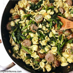 Orecchiette with Broccoli Rabe and Sausage: Italian-American Style