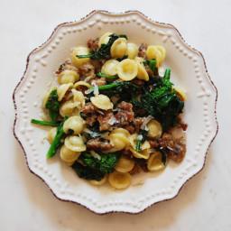 Orecchiette with Broccoli Rabe and Turkey Sausage