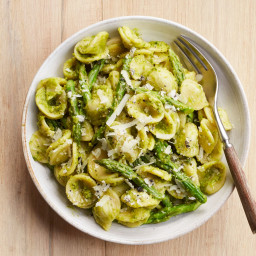 Orecchiette with Truffle-Asparagus Pesto