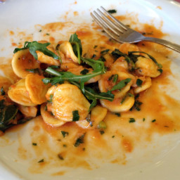 Orecchiette with Shrimp and Fresh Arugula