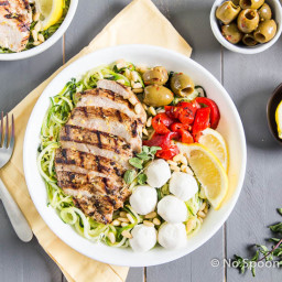 Oregano Chicken Mediterranean Zoodle Bowl