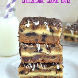 Oreo Chocolate Chip Cheesecake Cookie Bars