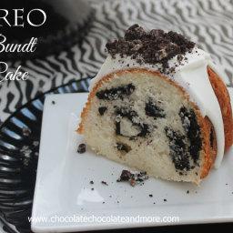 Oreo Cookies and Cream Bundt Cake