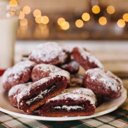 Oreo-Stuffed Vegan Christmas Cookies