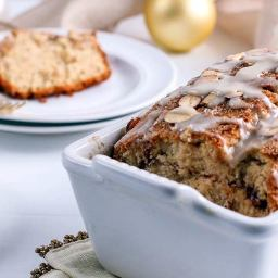Organic Almond Glazed Snickerdoodle Bread