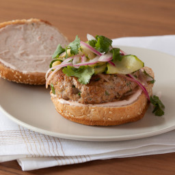 Oriental Turkey  Burger and Crunchy Salad