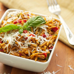 Orzo w/Spinach and Red Pepper