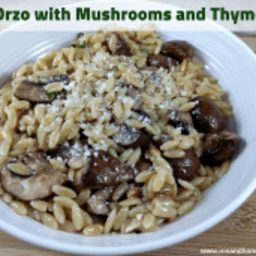 Orzo with Mushrooms and Thyme