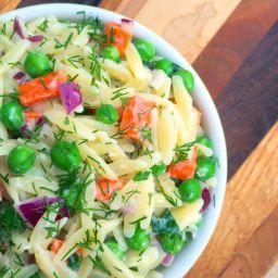 Orzo Salad with Yogurt-Dill Vinaigrette