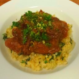 Osso Bucco with Parmesan Spinach Risotto