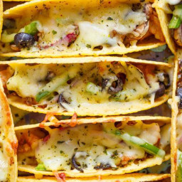 Oven Baked BBQ Chicken Pizza Tacos