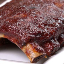 Oven Baked BBQ Ribs with Homemade Dry Rub & BBQ Sauce Recipe