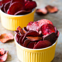 Oven Baked Beet Chips Recipe