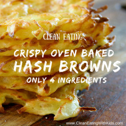 Oven Baked Hash Browns (Only 4 Ingredients)