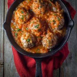 Oven Baked Paleo Italian Meatballs with Marinara Sauce