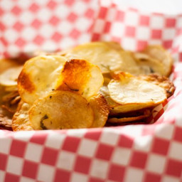 Oven Baked Rosemary Potato Chips