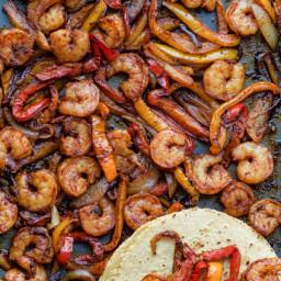 Oven Baked Shrimp Fajitas