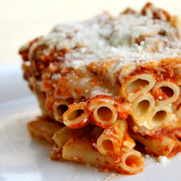 Oven-Baked Ziti with Three Cheeses