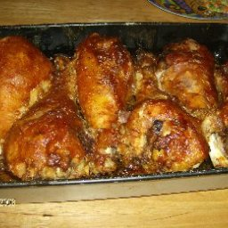 Oven-Barbecued Turkey Legs