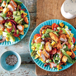 Oven-Fried Chicken Salad with Buttermilk Ranch Dressing Recipe