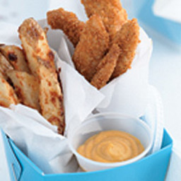 Oven-Fried Chicken Tenders and Fries