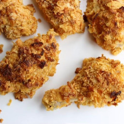 Oven-Fried, Corn Flake-Crusted Chicken Recipe