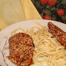 Oven-Fried Sesame Chicken