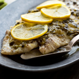 Oven-Poached Pacific Sole With Lemon Caper Sauce