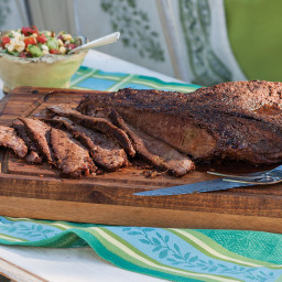 Oven-Roasted Beef Brisket with Succotash Relish