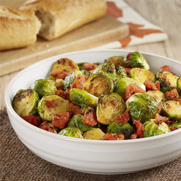 Oven Roasted Brussels Sprouts with Tomatoes