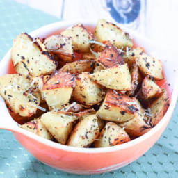 Oven Roasted Garlic Herb Parmesan Potatoes