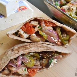 Oven Roasted Greek Stuffed Pitas