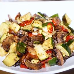 Oven Roasted Mushroom and Vegetable Salad