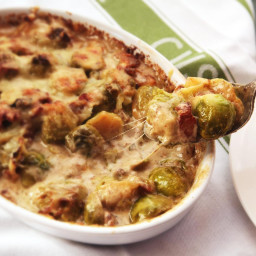 Over-the-Top Creamed Brussels Sprout Gratin Recipe