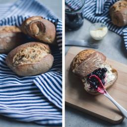 Overnight Breakfast Bread Rolls