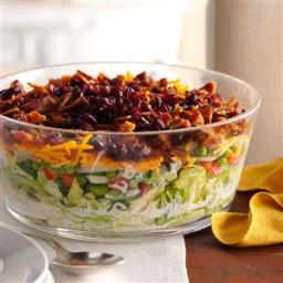 Overnight Layered Lettuce Salad Recipe