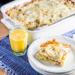 Overnight Sausage Egg and Cheese Breakfast Casserole