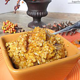 Overnight Slow Cooker Pumpkin Pie Steel Cut Oats: No Sugar Added