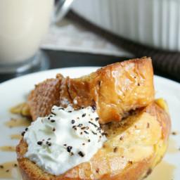 Overnight Caramel Macchiato French Toast