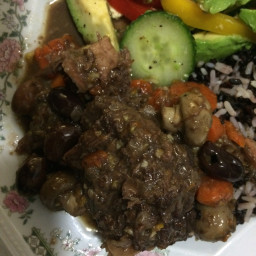 Oxtail Stew with Orange and Black Olives.