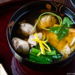 Ozoni (Japanese New Year Mochi Soup) - Kanto Style