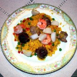 Paella with Saffron Rice ala Negri