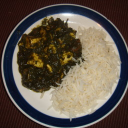 Palak Paneer (Spinach and Cottage Cheese)