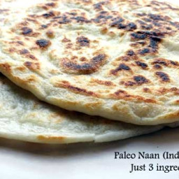 Paleo 3 Ingredient Naan Indian Bread