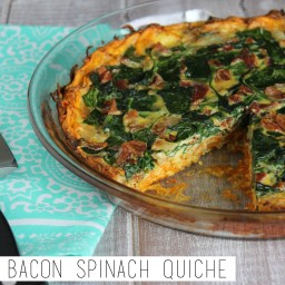 Paleo Bacon Spinach Quiche