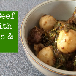 Paleo Beef Stew with Turnips and Greens (AIP-Friendly)